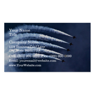 Blue angels in graceful arch formation business card