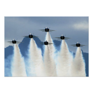 Blue_Angels_on_Delta_Formation Poster