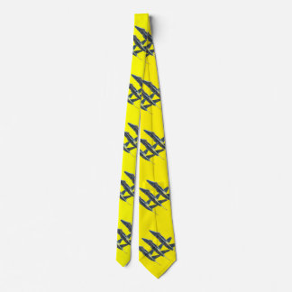 BLUE ANGELS ON YELLOW NECK TIE
