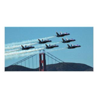 Blue Angels over San Francisco Card