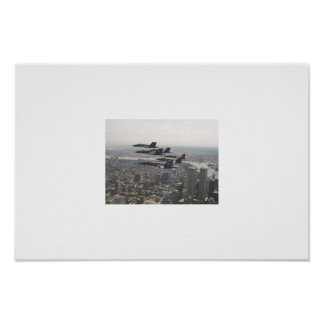 Blue Angels over the Twin Towers Print
