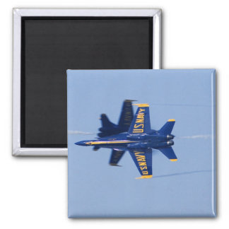 Blue Angels perform knife-edge pass during 2006 2 Inch Square Magnet
