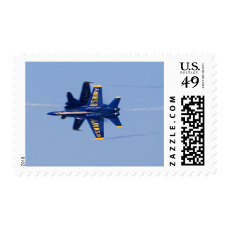 Blue Angels perform knife-edge pass during 2006 Postage