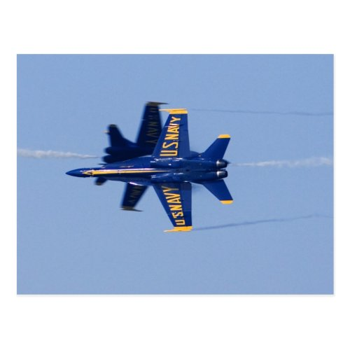 Blue Angels perform knife_edge pass during 2006 Postcard