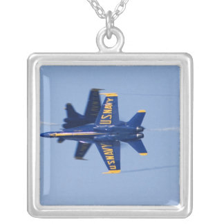 Blue Angels perform knife-edge pass during 2006 Silver Plated Necklace