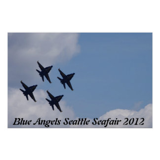 Blue Angels Seattle Seafair 2012 Poster