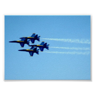 Blue Angels Signature Flyby Poster