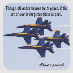 Blue Angels Square Stickers