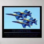 Blue Angels Teamwork poster