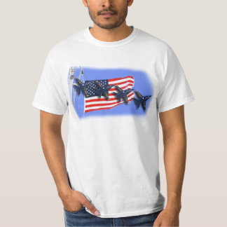 Blue Angels & the USA Flag customizable tshirt