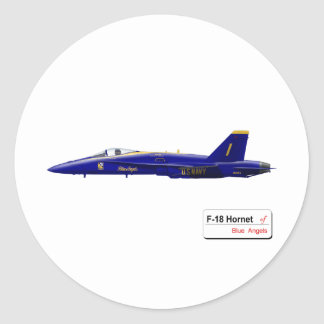 Blue Angles Round Stickers