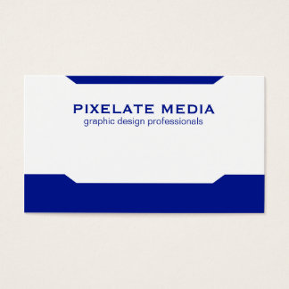 Blue angular, simple chiq business cards