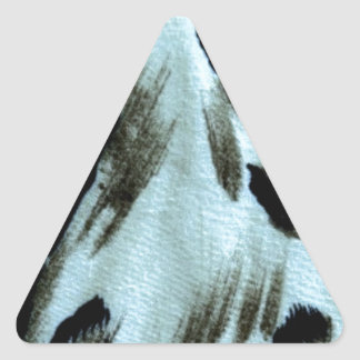 Blue Animal Print Art Triangle Sticker