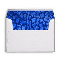 Blue Animal Print  Gold Envelope