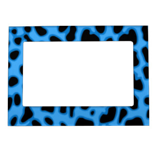 Blue Animal Print Magnetic Fridge Picture Frame