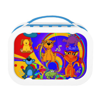 Blue Animals Boys Dogs Cats Frogs Monkey Dinosaur Lunch Box