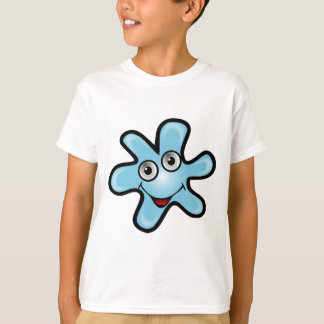 Blue animated happy smiling bacteria T-Shirt