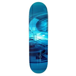 Blue Anime Artificial Intelligence Interface Skateboard
