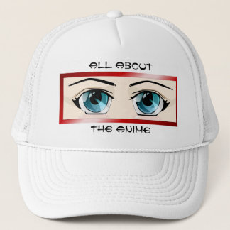 Blue Anime Eyes Hat