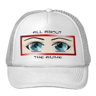 Blue Anime Eyes Hat