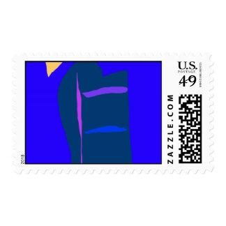 Blue Anime Robot Liquid Economy Dry Wind Postage Stamp