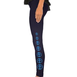 Blue Ankh Ancient Egypt Wicca Art Legging Pants