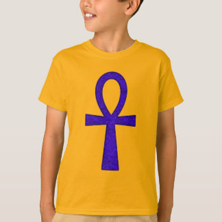 Blue Ankh Kids' T-Shirt