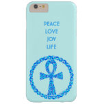 Blue Ankh Symbol Ancient Egypt Wicca Barely There iPhone 6 Plus Case