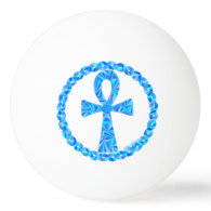 Blue Ankh Symbol Ancient Egypt Wicca Ping-Pong Ball
