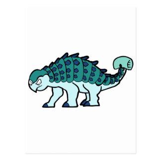 Blue Ankylosaurus Postcard