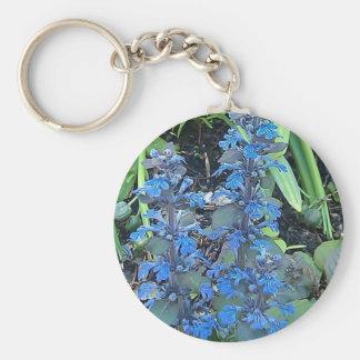 Blue Annuals Basic Round Button Keychain