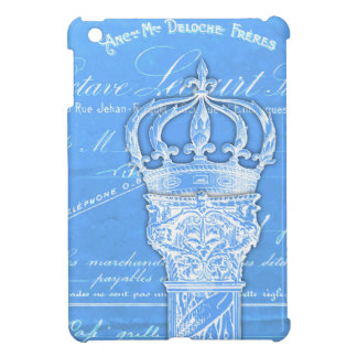 Blue antique column collage French document Case For The iPad Mini