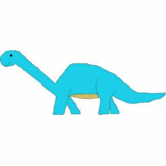 Blue apatosaurus sculpture standing photo sculpture