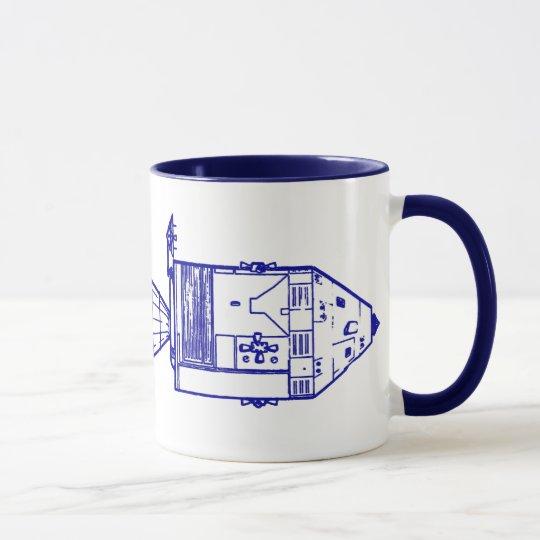 "Blue ""APOLLO CM/MISSION PLAN"" Mug"