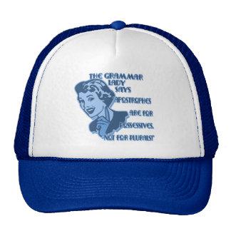 Blue Apostrophes for Possessives Hat