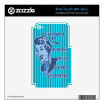 Blue Apostrophes iPod Touch Skin
