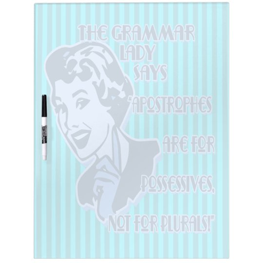 Blue Apostrophes Large Dry Erase Board