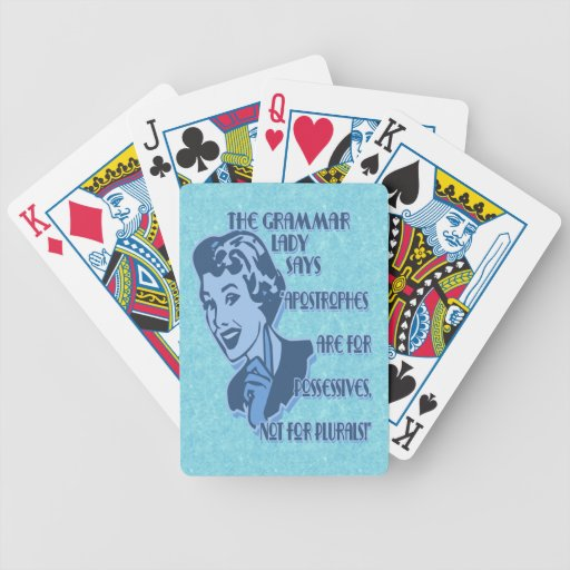 Blue Apostrophes Playing Cards
