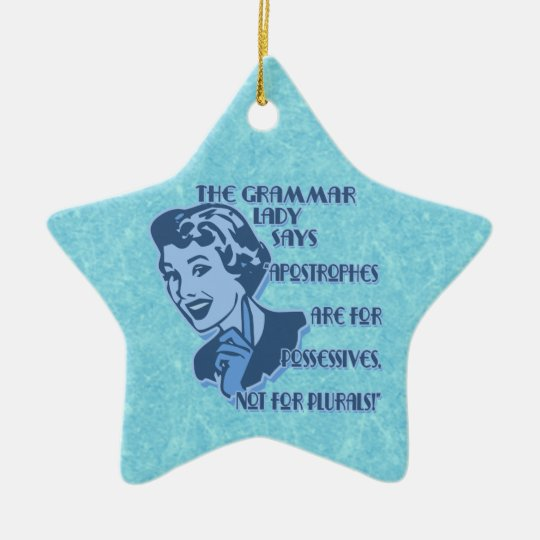 Blue Apostrophes Star Ornament