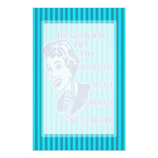 Blue Apostrophes Stationery