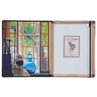 Blue Apothecary Bottle iPad Folio Case