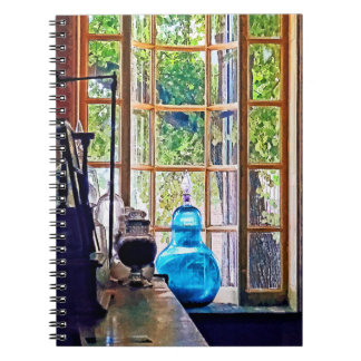 Blue Apothecary Bottle Spiral Notebook