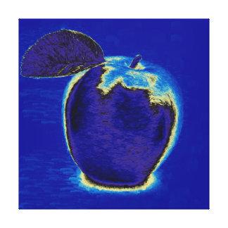 Blue Apple Canvas Print