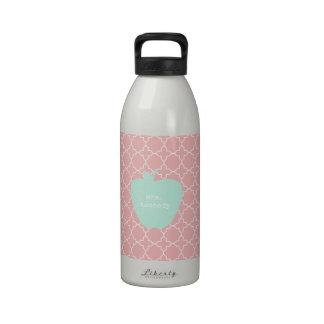 Blue Apple Coral Quatrefoil Teacher Drinking Bottles