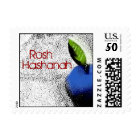 Blue Apple Rosh Hashanah Stamp