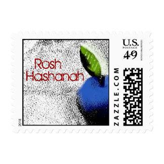 Blue Apple Rosh Hashanah Stamp