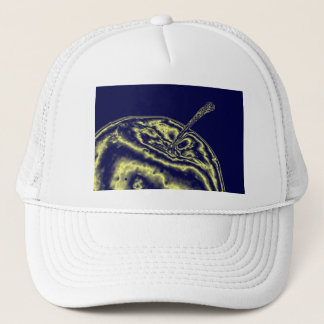 Blue apple trucker hat