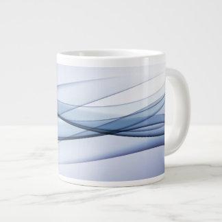 Blue Aqua Abstract Jumbo Mug