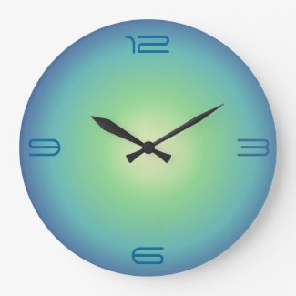 Blue aqua Green>Colored Kitchen Clock