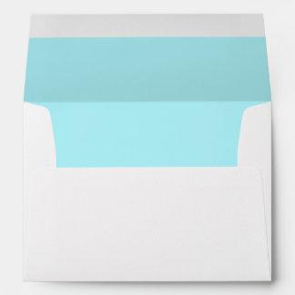 Blue Aqua Light Invitation Envelope